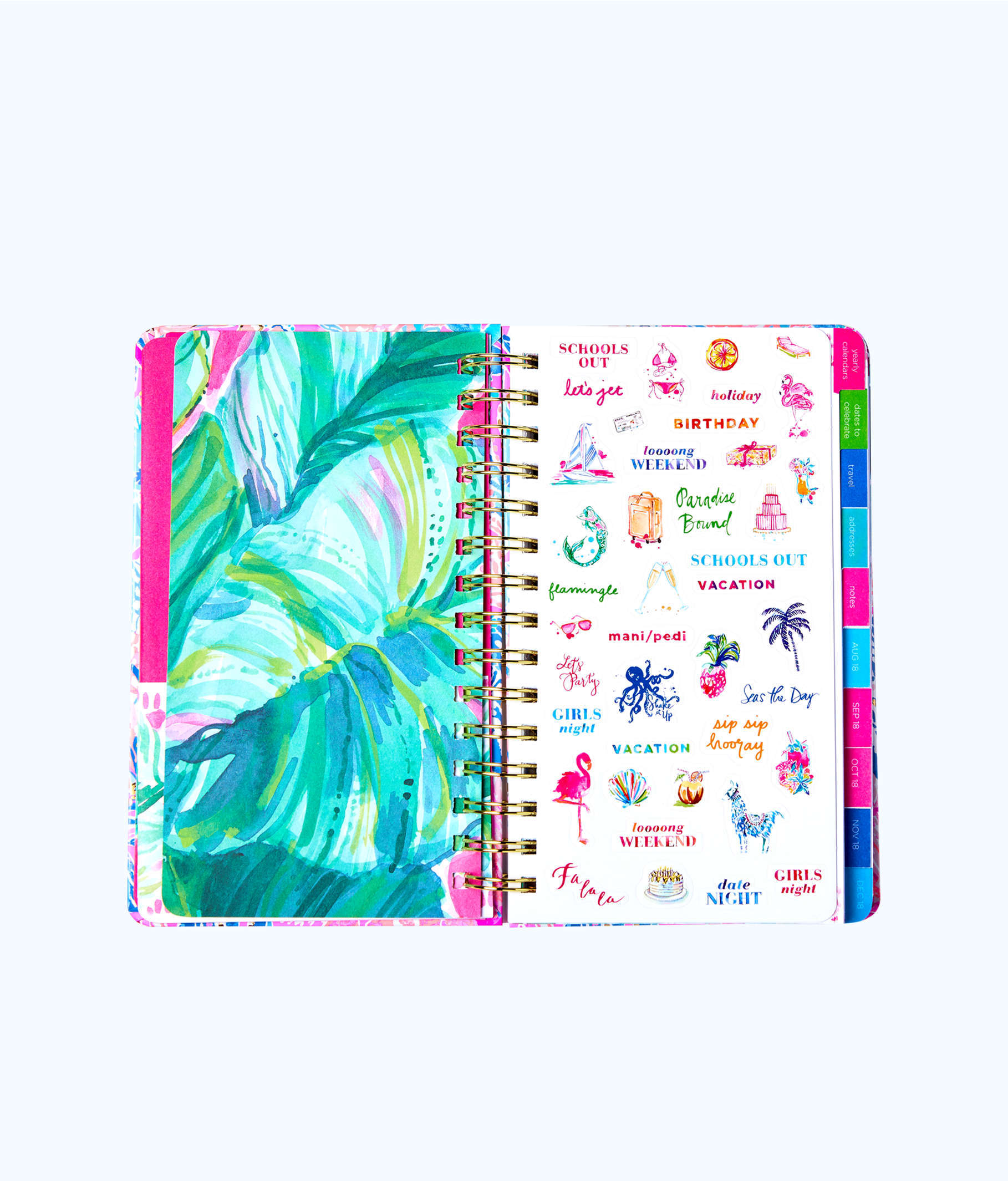 2019 12 month large monthly agenda   501033   lilly pulitzer