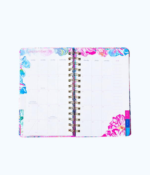 2019 12 Month Medium Monthly Agenda, Multi Catch The Wave, large