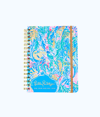 2018-2019 17 Month Monthly Planner, Multi Mermaids Cove, large