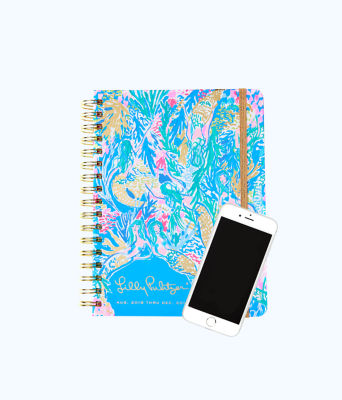 2018 - 2019 17 Month Monthly Planner, Multi Mermaids Cove, large