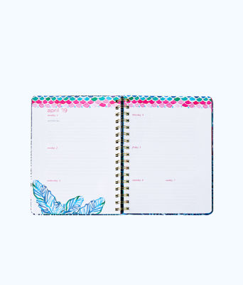 2018 - 2019 17 Month Monthly Planner, Multi Mermaids Cove, large 3