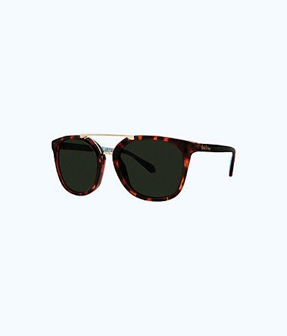 Emilia Sunglasses, Dark Tortoise, large 0
