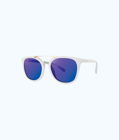 Emilia Sunglasses, Resort White, large