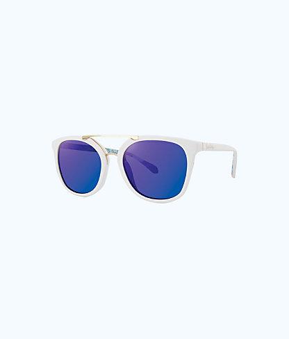 Emilia Sunglasses, Resort White, large
