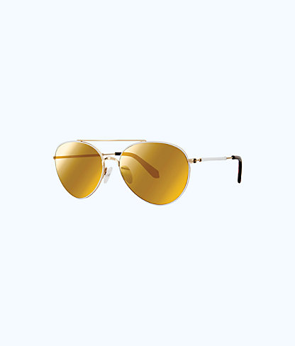 Isabelle Sunglasses, Gold Metallic, large