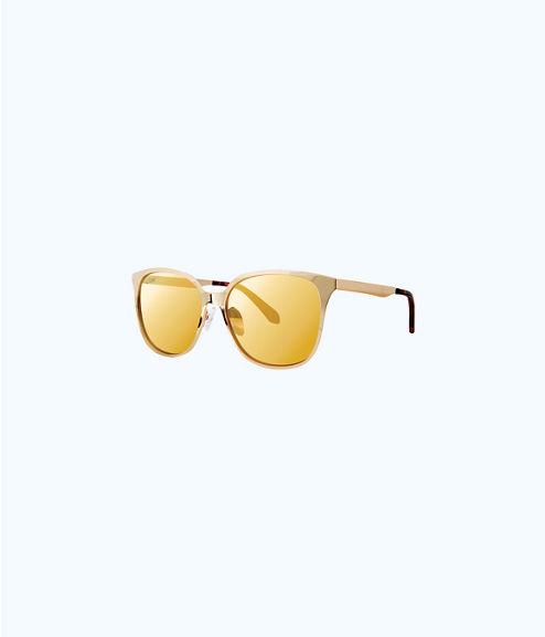 Landon Sunglasses, Gold Metallic, large