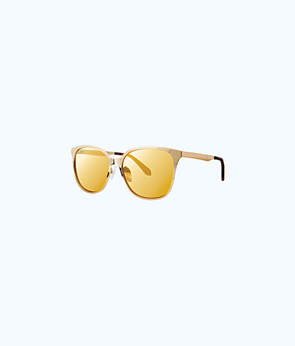 Landon Sunglasses, Gold Metallic, large