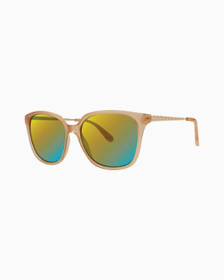 Haylee Sunglass, Matte Crystal Gold, large