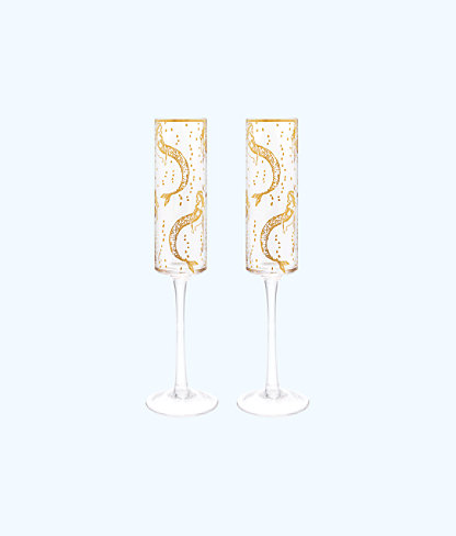 Champagne Glass Set, Multi Mermaids Cove, large