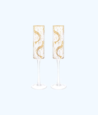 Champagne Glass Set, Multi Mermaids Cove, large
