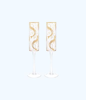 Champagne Glass Set, Multi Mermaids Cove, large 0