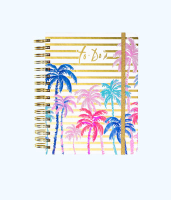To Do Planner, Resort White Desert Palm Stripe Engineered Skipper, large 0