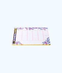Weekly Desk Pad And Pen, Light Pascha Pink Aquadesiac, large