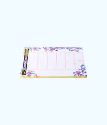 Weekly Desk Pad And Pen, Light Pascha Pink Aquadesiac, large 0