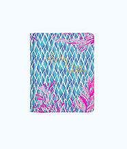 Concealed Spiral Journal, Crew Blue Tint Kaleidoscope Coral, large