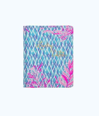 Concealed Spiral Journal, Crew Blue Tint Kaleidoscope Coral, large 0