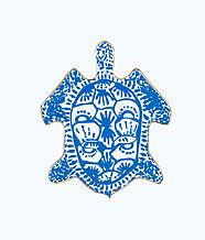 Trinket Tray, Blue Peri Turtley Awesome, large