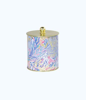 Large Jar Candle, Crew Blue Tint Kaleidoscope Coral, large