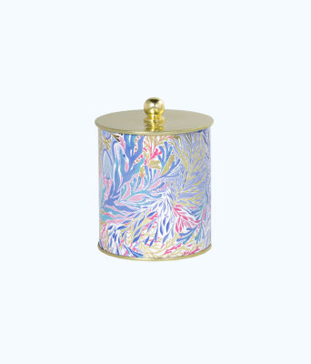 Large Jar Candle, Crew Blue Tint Kaleidoscope Coral, large 0