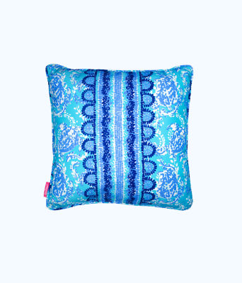 Large Pillow, Blue Peri Turtley Awesome, large 0