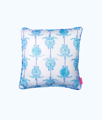 Large Pillow, Blue Peri Turtley Awesome, large 1