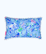 Medium Pillow, Coastal Blue Lion Around, large