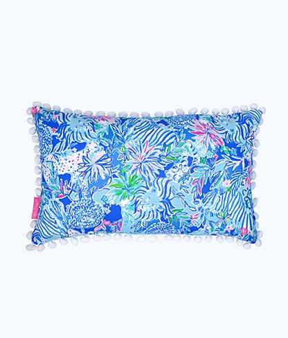 Medium Pillow, Coastal Blue Lion Around, large 0