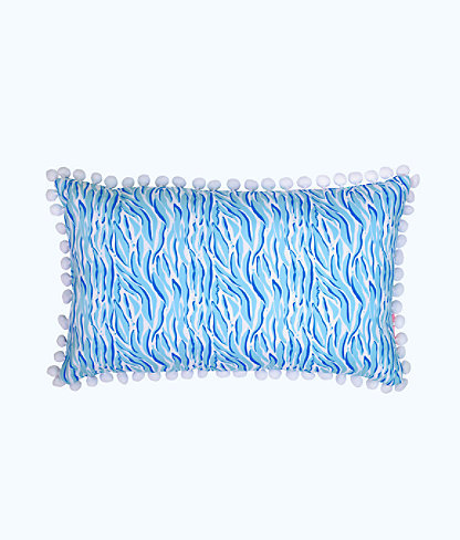 Medium Pillow, Coastal Blue Lion Around, large 1