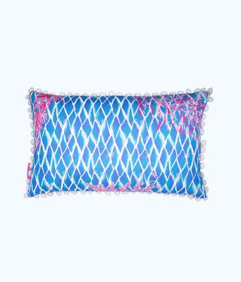 Medium Pillow, Crew Blue Tint Kaleidoscope Coral, large 1