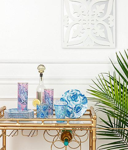 Hi Ball Glass, Crew Blue Tint Kaleidoscope Coral, large 2