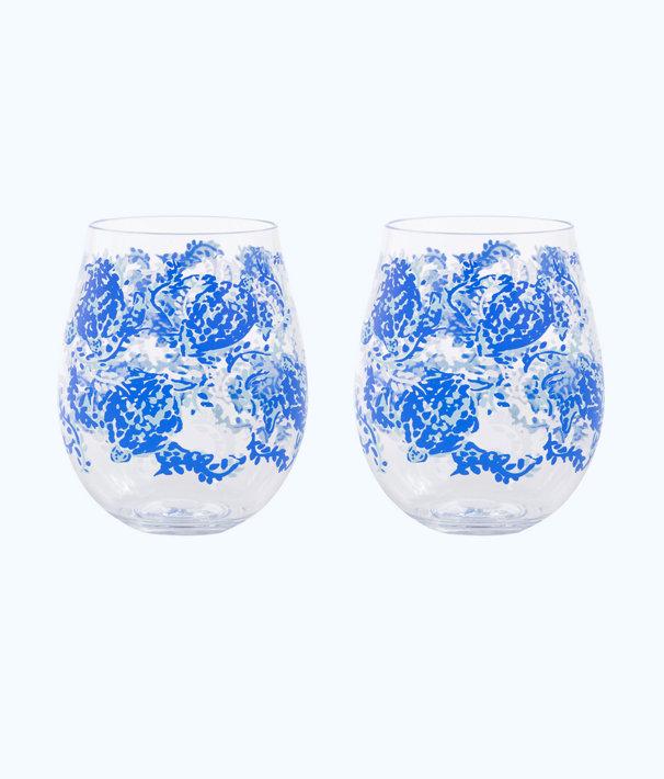 Wine Glass - Acrylic, Blue Peri Turtley Awesome, large