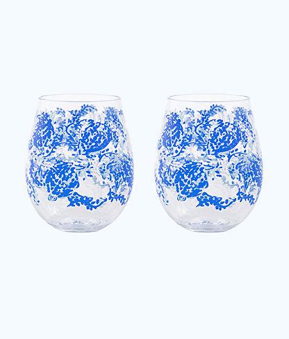 Wine Glass - Acrylic, Blue Peri Turtley Awesome, large 0