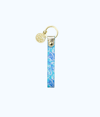 Strap Keychain, Blue Peri Turtley Awesome, large