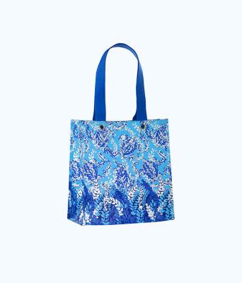 Market Shopper Tote, Blue Peri Turtley Awesome, large 0