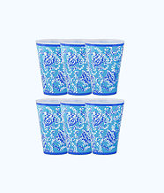 Pool Cups, Blue Peri Turtley Awesome, large