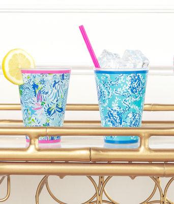 Pool Cups, Coastal Blue Lion Around, large