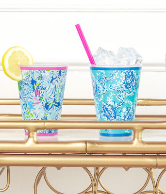 Pool Cups, Coastal Blue Lion Around, large 2