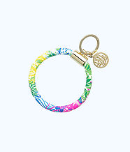 Round Key Chain, Multi Cheek To Cheek, large