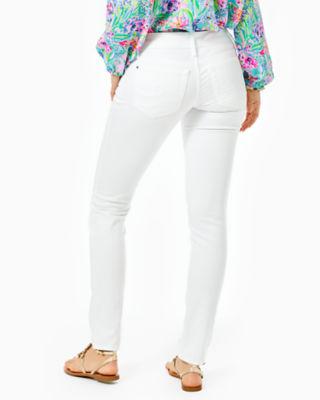 "31"" Worth Skinny Jean - Sateen, Resort White, large 1"