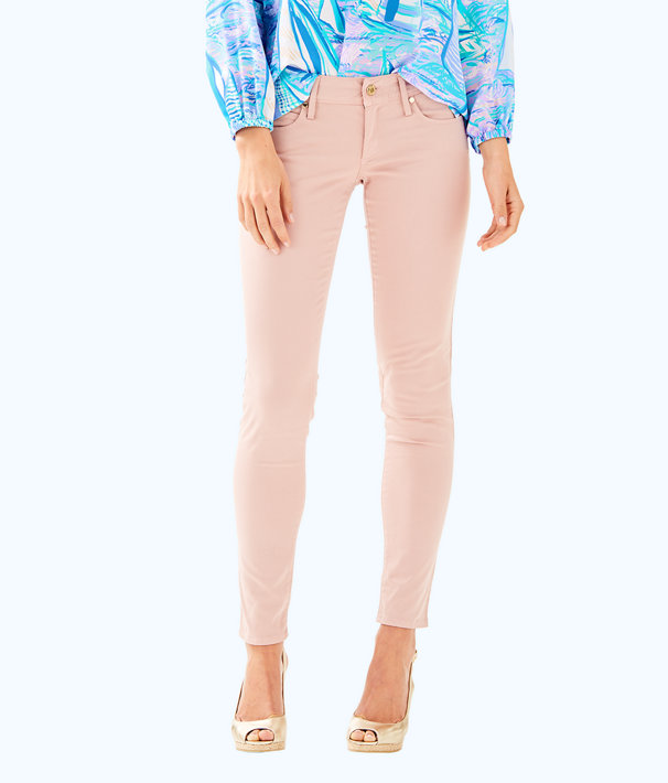 "31"" Worth Skinny Jean - Sateen, Rose, large"