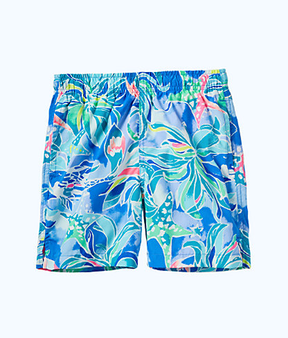 Boys Junior Capri Swim Trunk, Bennet Blue Celestial Seas, large