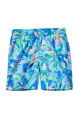 Boys Junior Capri Swim Trunk, Bennet Blue Celestial Seas, large