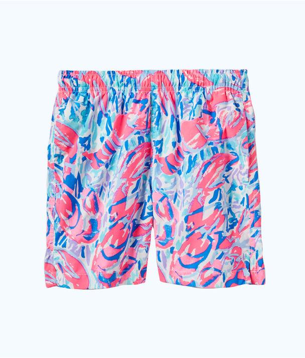 Boys Junior Capri Swim Trunk, Cosmic Coral Cracked Up, large