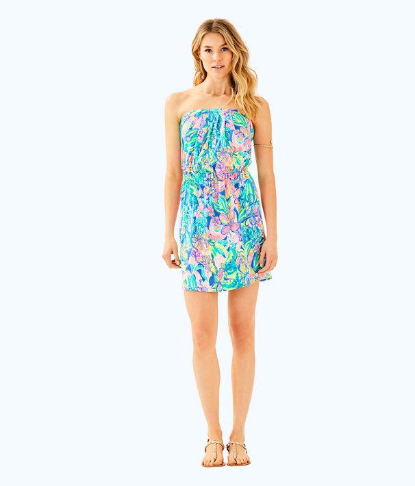Windsor Strapless Pull-On Dress, Bennet Blue Surf Gypsea Swim, large
