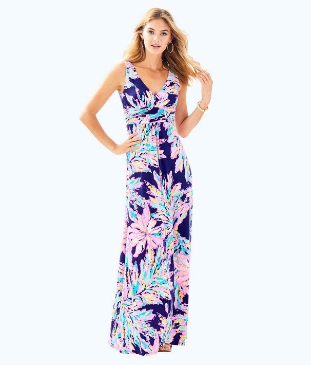 Sloane V-Neck Maxi Dress, , large