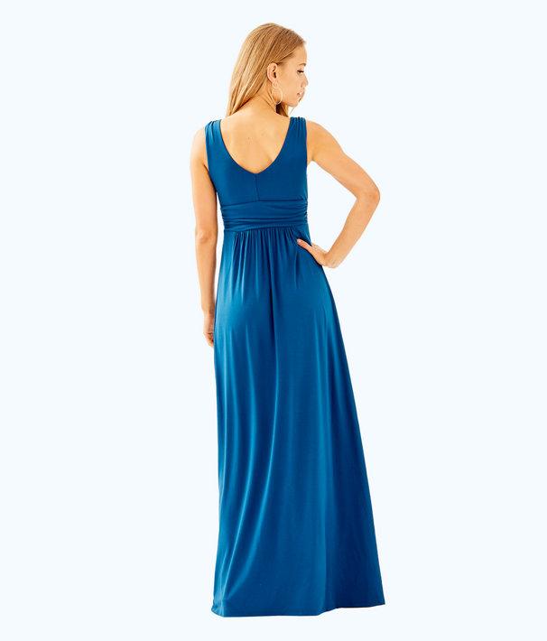 Sloane V-Neck Maxi Dress, Inky Navy, large