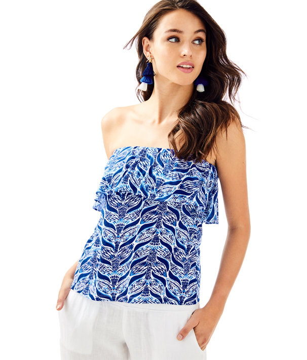 130691d067 Wiley Ruffle Tube Top