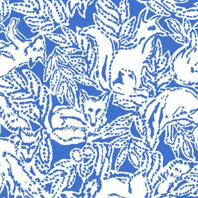 Lissie Dress, Coastal Blue Fancy Feet, swatch