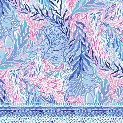 "5\"" Katia Short, Crew Blue Tint Kaleidoscope Coral Engineered Short, swatch"