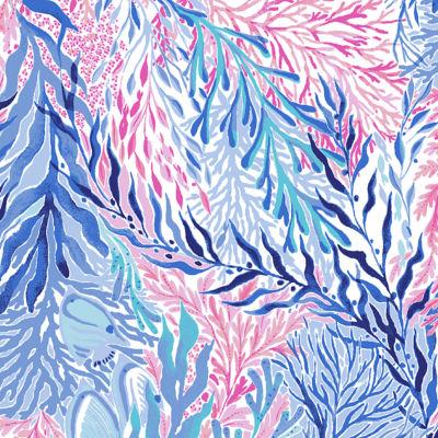 Crew Blue Tint Kaleidoscope Coral Shoe